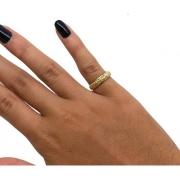 Anel Aparador 6 Diamantes Naturais Ouro 18K 22833 K230