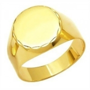 Anel Ouro 18K Redondo Liso Masculino K500