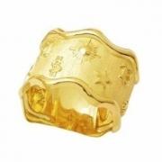 Anel Sorte Misticos Símbolos Sorte Genuíno Ouro 18K 24423