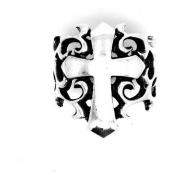 Anel Templário Cruz Tribal Prata de Lei  18375