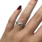 Anel Diamantes Xis Ouro Branco 18K 23462