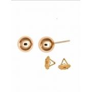 Brinco Bola 6 Milímetros Ouro 18K Tarraxa Rosca K085 21661 K085