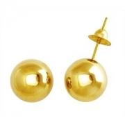 Brinco Bola Grande Com 9 Milímetros Ouro 18K K155 13144