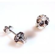 Brinco Clássico Diamantes 15 Pontos Ouro Branco 750 k450