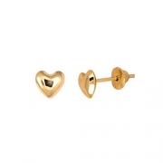 Brinco Coração 5 Milímetros Polido Almofada Ouro 18K 24427 K050