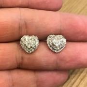 Brinco Diamantes Naturais Coração Tipo Pizza 12 Milímetros Ouro 18K 23991