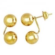 Brinco Grace Kelly 2 Bolas 5 Milímetros Ouro 18K K090