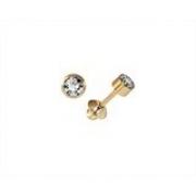 Brinco Tubinho 3 Milímetros Zircônia Ouro 18K K056 20927