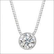 Colar Ponto De Luz Diamante Brilhante 17 Pts Ouro Branco 18K K405