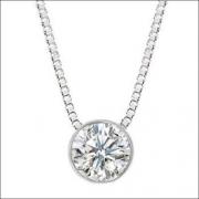 Colar Ponto De Luz Diamante Brilhante Extra 10 Pontos Ouro 18K 355