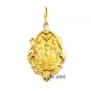 Medalha Divino Pai Eterno Ouro Ornato Grande K230