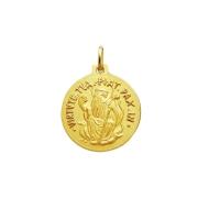 Medalha São Bento Dupla Face Tradicional 18 Milimetros Genuíno Ouro 18k K260