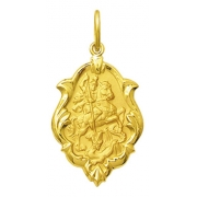 Medalha São Jorge Em Ouro 18k Ornato Mini K050