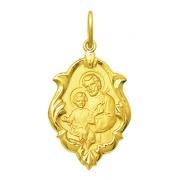 Medalha São Jose Em Ouro 18k Ornato Mini K050
