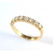 Aliança Diamantes Brilhantes 0,56 Ct Ouro 18K 03171 K970