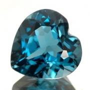 Pedra Lapidada London Blue Topázio Extra Coração 9 mm x 9mm