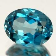 Pedra Lapidada London Blue Topázio Extra Oval 6mm X 8mm