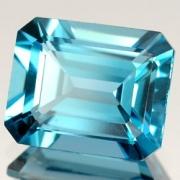 Pedra Lapidada Swiss Blue Topázio Extra Retangular 10mm X 14mm