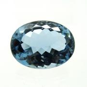 Pedra Lapidada Topázio London Blue Extra Natural Facetado 23.65ct