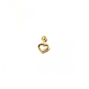 Piercing Cartilagem Trágus Coração Vazado Ouro 18K 03222 K040