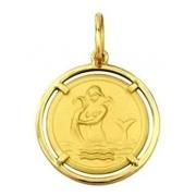 Pingente Aquário Signos Com Aro Em Ouro 18K K150