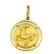 Pingente Aries Signos Com Aro Em Ouro 18K K1,50