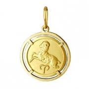 Pingente Capricórnio Signos Com Aro Em Ouro 18K K1,50
