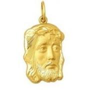 Pingente Face De Cristo Ouro 18K em tamanhos