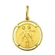 Pingente Gêmeos Signos Com Aro Em Ouro 18K K150