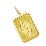 Pingente Jesus Cristo em Hebraico Yoshua Ideograma em Ouro 18k k130