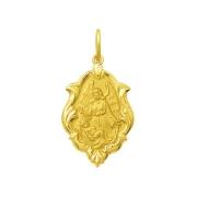Pingente Medalha Anjo Da Guarda Em Ouro 18K Média K130