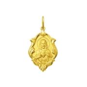 Pingente Medalha Coração De Jesus Em Ouro 18K Ornato Grande K230