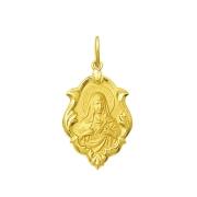 Pingente Medalha Coração De Maria Ouro 18K Ornato Grande K230
