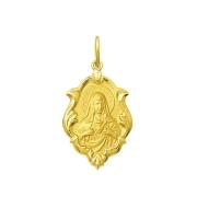 Pingente Medalha Coração De Maria Ouro 18K Ornato Pequena K070