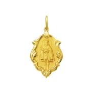 Pingente Medalha Jesus De Pirapora Em Ouro 18K Ornato Pequena K070