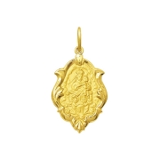 Pingente Medalha Mont Serrat Em Ouro 18K Ornato Pequeno K070