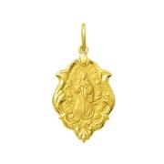 Pingente Medalha Nossa Senhora Da Conceição Ouro 18K Ornato Grande K230