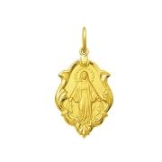 Pingente Medalha Nossa Senhora Das Graças Ouro 18K Ornato Média K130