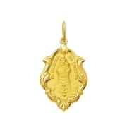 Pingente Medalha Nossa Senhora Do Loreto Ouro 18K Ornato Grande K230