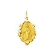 Pingente Medalha Nossa Senhora Do Rosário Ouro 18K Ornato Grande K230