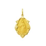 Pingente Medalha Nossa Senhora Do Rosário Ouro 18K Ornato Pequena K070