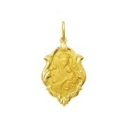 Pingente Medalha Nossa Senhora Perpetuo Socorro Ouro 18K Ornato Grande K230