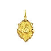 Pingente Medalha Santa Clara Em Ouro 18K Ornato Grande K230
