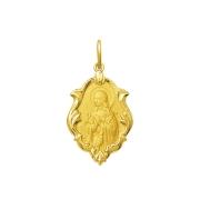Pingente Medalha Santa Gorete Em Ouro 18K Ornato Grande K230