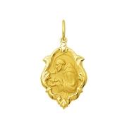 Pingente Medalha São Francisco Em Ouro 18K Ornato Pequena K070