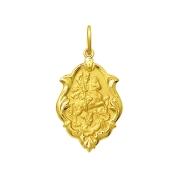 Pingente Medalha São Jorge Em Ouro 18K Ornato Média K130