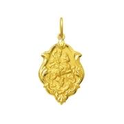 Pingente Medalha São Jorge Em Ouro 18K Ornato Pequena K070