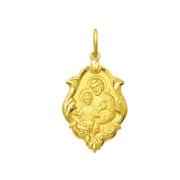 Pingente Medalha São Jose Em Ouro 18K Ornato Média K130