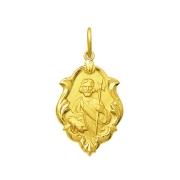 Pingente Medalha São Judas Tadeu Em Ouro 18K Ornato Média K130