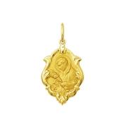 Pingente Medalha São Luiz Em Ouro 18K Ornato Pequena K070